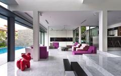 séjour ouvert sur jardin piscine rénovation travaux maison