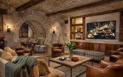 salon télé cave de vin