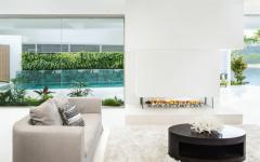 maison de luxe moderne séjour en blanc