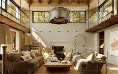 séjour de cette maison moderne et rustique