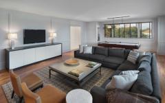 Salon télé confortable résidence de luxe