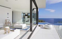 terrasse baie vitrée coulissante maison moderne