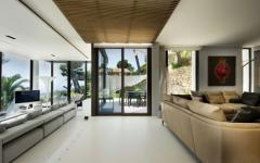 salon séjour moderne villa de luxe nice côte d'azur