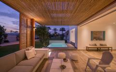 terrasse façade jolie villa rénovée de vacances