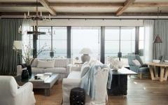 vue panoramique depuis séjour villa de vacances luxe