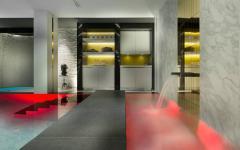centre spa piscine chauffée intérieure chalet de luxe courchevel