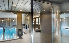 spa centre villa rustique de luxe courchevel