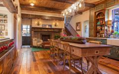 salle à manger rustique en bois massif