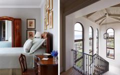 escalier intérieur avec vue