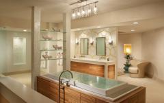 spacieuse salle de bains de standing aménagement