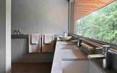double évier salle de bains chalet écologique canada