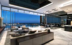 séjour design penthouse de luxe miami
