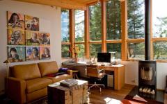 mur en bois studio ambiance rustique