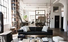 canapé vintage loft style industriel masculin