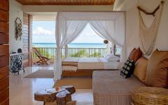 chambre de luxe villa de vacances avec vue