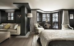 salon dans chambre à coucher luxe chalet