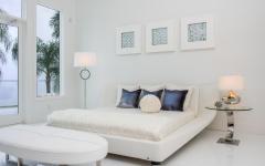 chambre design déco en blanc