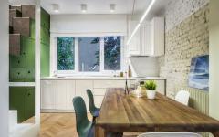 salle à manger cuisine design placards