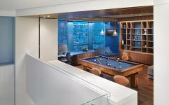 bibliothèque mezzanine duplex logement luxe
