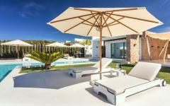 terrasse piscine chauffée extérieure outdoor villa à louer vacances ibiza