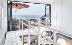 terrasse sur le toit appartement citadin avec vue