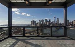 terrasse avec vue sur la ville