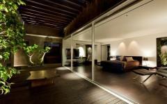 baie vitrée terrasse en bois exotique
