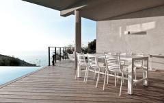 terrasse salle à manger extérieure monaco villa de luxe