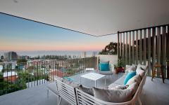 belle vue depuis le balcon maison rénovée de ville