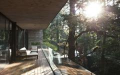 balcon vue forêt bois arbre architecture créative