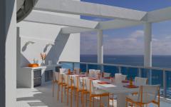 appartement avec vue sur la mer la terrasse aménagée