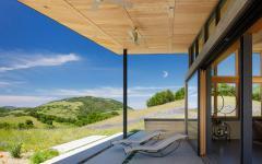 extérieur terrasse couverte demeure passive en bois