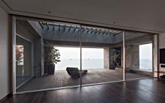 terrasse en bois chambre vue sur la mer