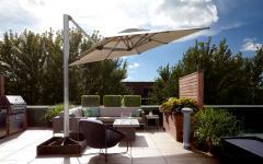 parasol excentré moderne design maison