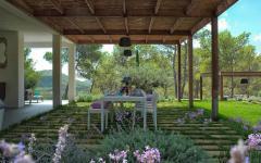 pergola salle à manger dehors outdoor villa de vacances luxe
