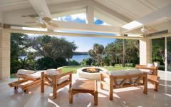 terrasse couverte avec vue sur mer