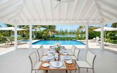 jardin terrasse piscine chauffée extérieure de luxe villa