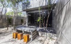 terrasse extérieure maison de vacances luxe
