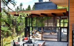 terrasse avec vue chalet moderne