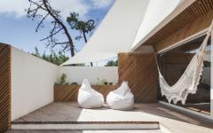 terrasse en bois massif maison moderne