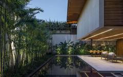 piscine jardin maison de ville haut standing