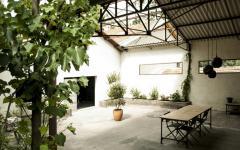 extérieur loft industriel transformée en maison