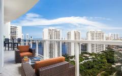 vue depuis terrasse bel appartement de vacances