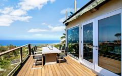 terrasse avec vue océan