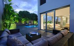 terrasse maison contemporaine moderne