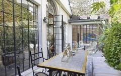 Cour privative intérieur patio résidence de luxe