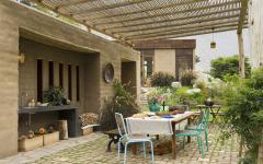 terrasse outdoor pergola rustique maison de vacances