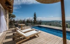 hôtel de luxe piscine privée avec vue