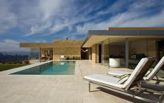 terrasse maison d'architecte de plain-pied