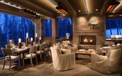 terrasse rustique résidence de montagne luxe